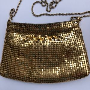 Handbags - Cute gold sequined small purse or clutch